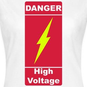 Danger! High Voltage! Blitz 2c T-Shirts - Frauen T-Shirt
