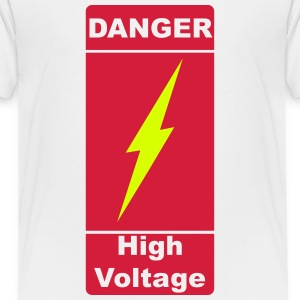 Danger ! High Voltage ! Flash 2c Skjorter - Premium T-skjorte for tenåringer
