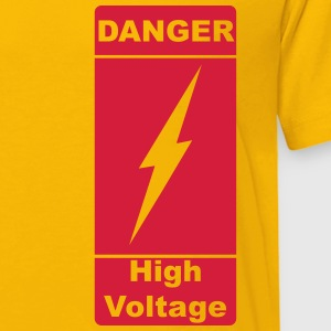 Danger ! High Voltage ! Lyn 1c Skjorter - Premium T-skjorte for barn