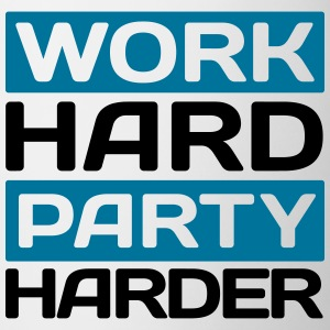 work hard party harder Flessen & bekers - Mok