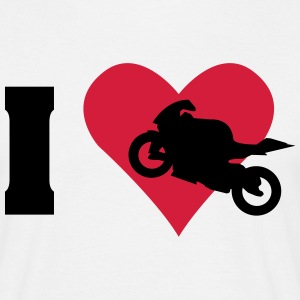 I love motorcycle  T-Shirts - Men's T-Shirt