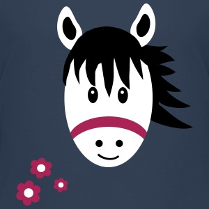 Cute Pony / Horse with Flowers Shirts - Kids' Premium T-Shirt