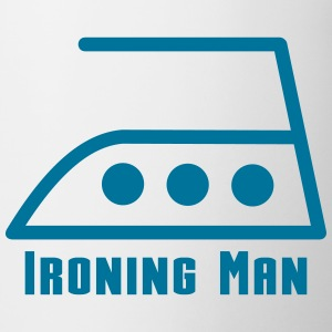 Wit ironing man Flessen & bekers - Mok