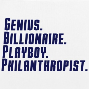 genius billionaire  play boy philanthropist Bags & backpacks - EarthPositive Tote Bag
