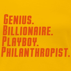 genius billionaire  play boy philanthropist T-Shirts - Women's Premium T-Shirt