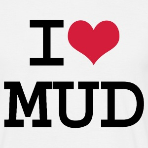 White I Heart Mud  Men's Tees - Men's T-Shirt
