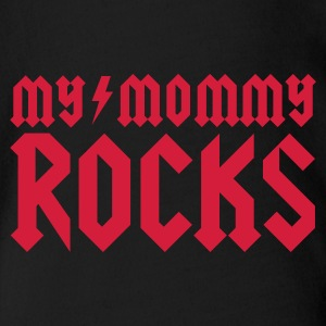 Zwart My mommy rocks Baby body - Baby bio-rompertje met korte mouwen