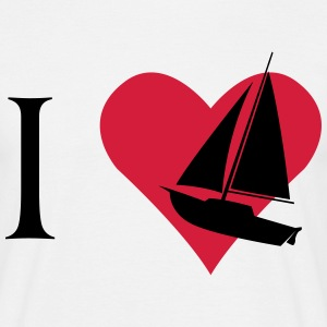 I love sailboat  T-Shirts - Men's T-Shirt