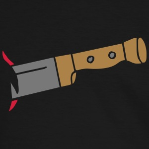Messer Knife deadly tödlich Tod Halloween Zombie T-shirts - Herre kontrast-T-shirt