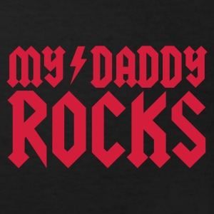 Black My daddy rocks Kid's Shirts  - Kids' Organic T-shirt