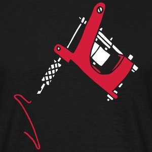 Tattoomaschine Tattoomachine Needles Nadeln Studio T-shirts - Herre-T-shirt