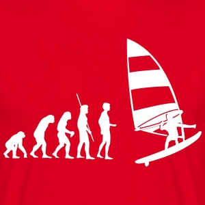 Windsurfer Evolution  T-shirts - Mannen T-shirt
