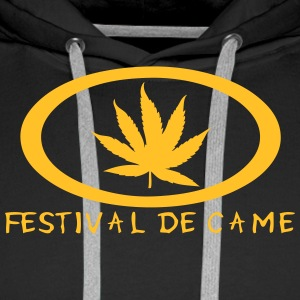 festival came feuille canabis drogue Sweat-shirts - Sweat-shirt à capuche Premium pour hommes