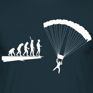 Evolution parachutist  T-Shirts - Men's T-Shirt