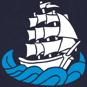 Segelschiff Dreimaster Tattoo Oldschool Sailboot T-Shirts - Men's Organic T-shirt