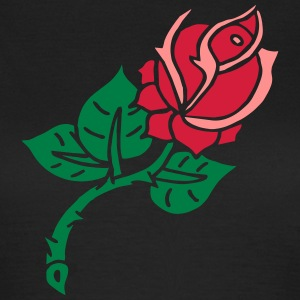 Rose Flower Blume Tattoo Oldschool Love Liebe T-shirts - Vrouwen T-shirt
