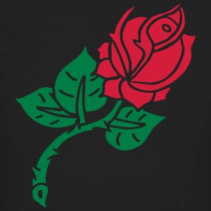 Rose Flower Blume Tattoo Oldschool Love Liebe T-shirts - Mannen Bio-T-shirt