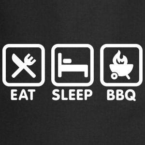 EAT - SLEEP - BBQ Kookschorten - Keukenschort