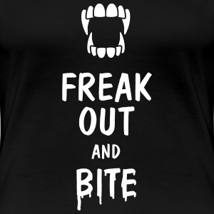 freak out and bite T-Shirts - Women's Premium T-Shirt