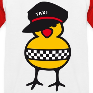 Taxi Chick - Kinder Baseball T-Shirt