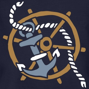 Anker Seemann Anchor Sailor Tattoo Oldschool SOS T-shirts - Mannen Bio-T-shirt