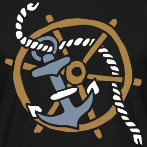 Anker Seemann Anchor Sailor Tattoo Oldschool SOS T-shirts - Mannen T-shirt
