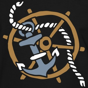 Anker Seemann Anchor Sailor Tattoo Oldschool SOS T-shirts - Herre kontrast-T-shirt