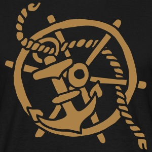 Anker Seemann Anchor Sailor Tattoo Oldschool SOS T-Shirts - Männer T-Shirt