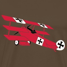 Fokker Roter Baron Red Air Combat First World War  T-Shirts
