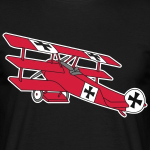 Fokker Roter Baron Red Air Combat First World War  T-Shirts - Men's T-Shirt