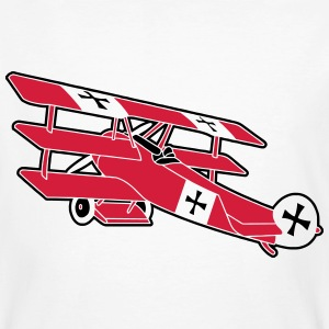 Fokker Roter Baron Red Air Combat First World War  Magliette - T-shirt ecologica da uomo