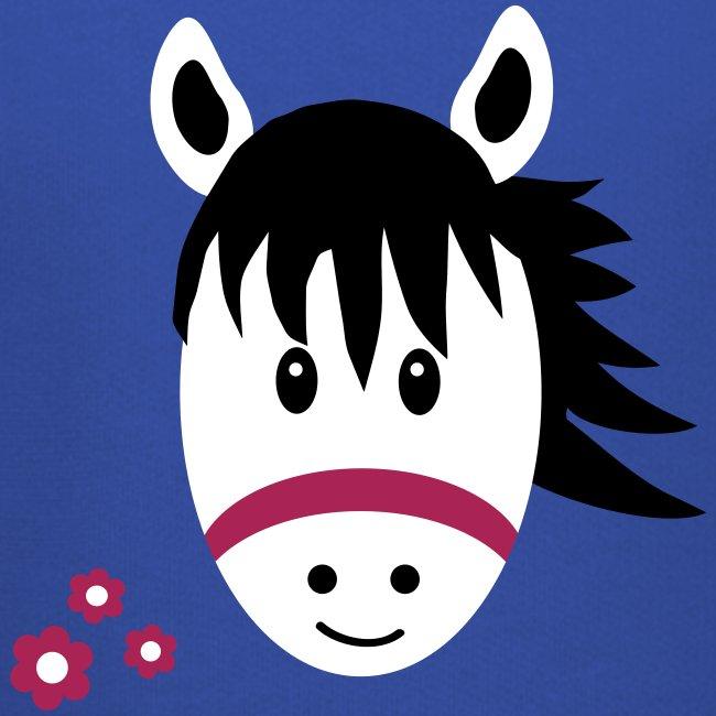 Cute Pony with Flowers Kids Horse Hoodie