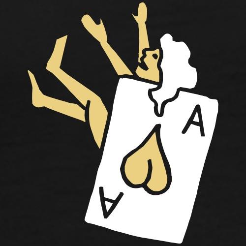 Poker Herz Heart Ass Ace Frau Woman Girl Pinup