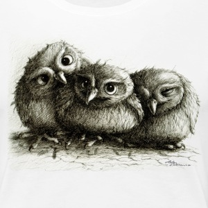 ugle - three young owls - Premium T-skjorte for kvinner