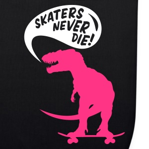 Black t-rex skater Bags  - EarthPositive Tote Bag