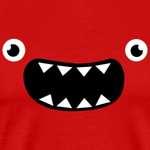 Funny Monster Face T-Shirts - Men's Premium T-Shirt