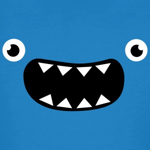 Funny Monster Face T-Shirts - Männer Bio-T-Shirt