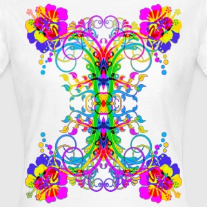 Colorful Hibiscus Sym Decor - Frauen T-Shirt