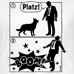 Cartoon, Hund & Herrchen: Platz! Boom! (1C) - Frauen T-Shirt