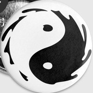 Yin-Yang Splash Bottoni/Spille - Spilla media 32 mm
