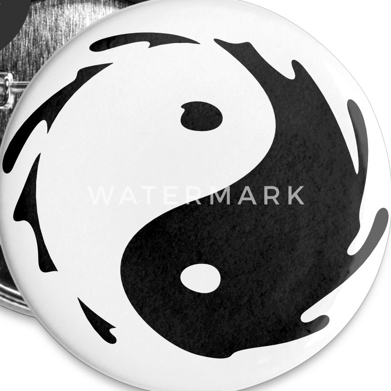 Yin-Yang Splash Buttons - Buttons medium 32 mm