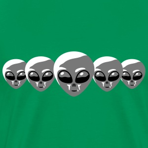 Alien Heads T-shirts - Mannen Premium T-shirt