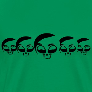 Alien Heads T-Shirts - Men's Premium T-Shirt