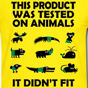 PRODUCT tested on Animals - Didn't Fit T-Shirts - Men's Ringer Shirt