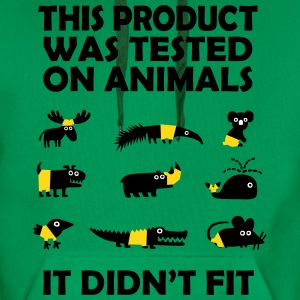 PRODUCT tested on Animals - Didn't Fit Hoodies & Sweatshirts - Men's Premium Hoodie