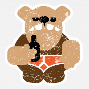 Beer Bear Retro - small chest - Men's T-Shirt
