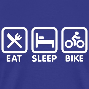 Eat sleep bike Tee shirts - T-shirt Premium Homme