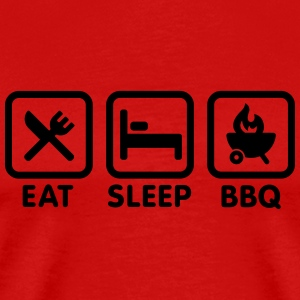 EAT - SLEEP - BBQ Tee shirts - T-shirt Premium Homme