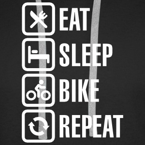 Eat sleep bike repeat  Sweat-shirts - Sweat-shirt à capuche Premium pour hommes
