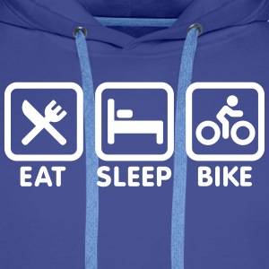 Eat sleep bike Sweat-shirts - Sweat-shirt à capuche Premium pour hommes
